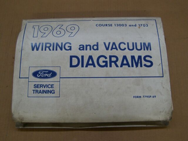 Oem Ford 1969 Wiring Diagram Book Mustang Cougar Galaxie