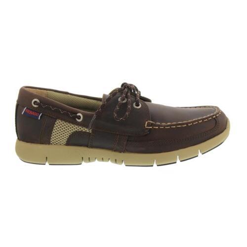 Sebago Kinsley Two Eye Brown Leather B130238 Men Dk