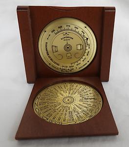 Brass Weather Forecaster in Wooden Case - BNWT