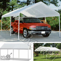 Outdoor Carport Garage Tent Car Canopy Shelter Gazebo Steel Frame Cover 10 X 20