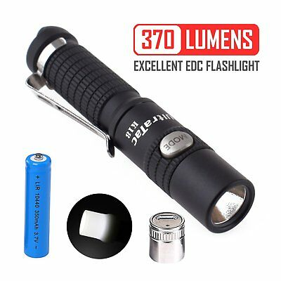 3 Modes with Strobe Max 370 Lumen Waterproof K18 Small Flashlight Keychain