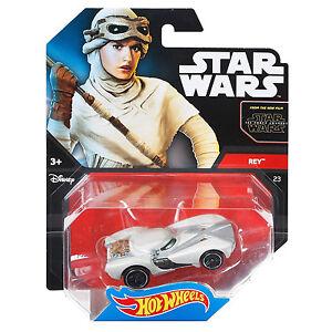 Mattel-hot-wheels-star-wars-1-64-scale-diecast-rey-personnage-voiture-DJL56