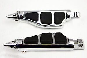 Htt Stiletto Foot Pegs para Harley Softail Sportster Dyna Glide Fat Boy cromado