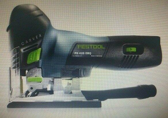 Festool CARVEX JIGSAW PS420EBQPLUS 120mm 550W Programmable Stroboscopic Light