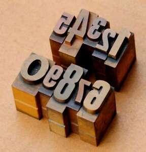 0-9 Chiffres Mix Affiche Lettres Letterpress Lettres Chiffres Tampon Nombre Chiffre...-afficher Le Titre D'origine