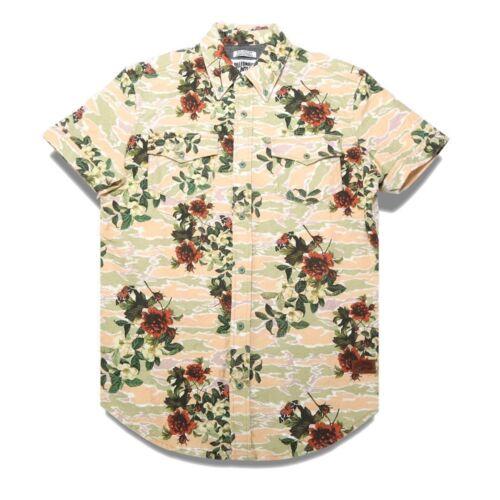 Billionaire Boys Club Men Garden Woven Shirt white eggnog