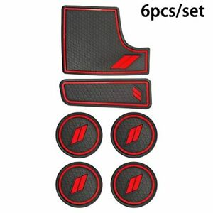 Youteer Anti-Dust Mat for Dodge Charger 2015-2020 Accessories Cup Holder Inserts and Center Console Mats 8 Pcs Red
