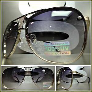 Men or Women CLASSIC VINTAGE RETRO Style SUN GLASSES Light Gold Frame Smoke Lens