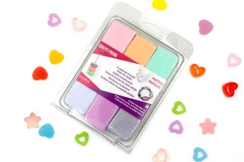 Sculpey Gloss Glaze Polymer Clay Bundle Pastel Premo+Foils+Tweezers