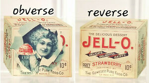 1902 JELLO DIE CUT Jell-o Box Shaped BOOKLET Genesee Pure Food Le Roy New York