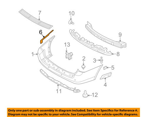 KIA OEM 06-12 Sedona Rear Bumper-Upper Bracket Right 866624D000