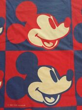 Disney Productions Mickey Mouse Vtg Twin Fitted Sheet Cutter Fabric Material