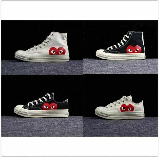 COMME DES GARCONS PLAY Chuck Taylor x CONVERSE caliente gratuitoSHIPPING HIGHT QUALITY Sautope classeiche da uomo