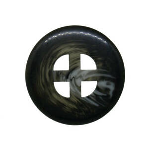 Z234 Large 23mm 36L Dark Charcoal Grey Swirl Patterned 4 Hole Coat Buttons
