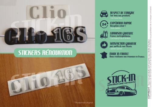 Kit Renovation Monogramme Autocollants Stickers Clio 16S Renault