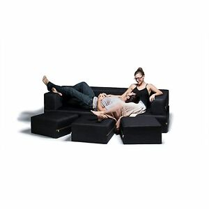 Image Is Loading Ja Denim Zipline Convertible Sofa Bed Amp Three