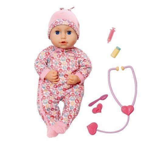 Baby annabell milly fühlt sich besser, baby doll 43 cm