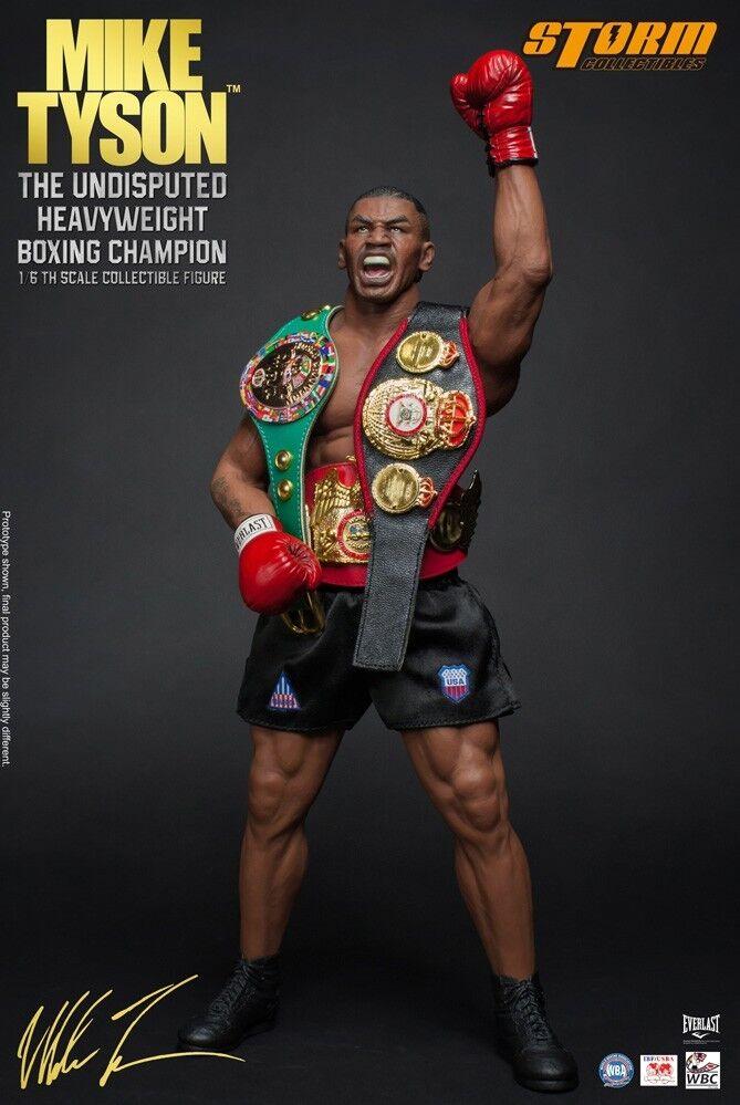 Mike tyson - actionfigur [der unbesiegte schwergewichts - boxweltmeister.