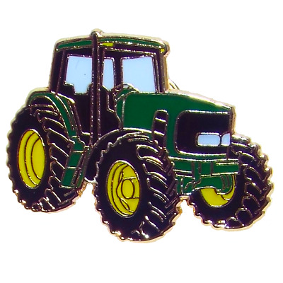 Modern Tractor Agriculture Farming Pewter Pin Badge