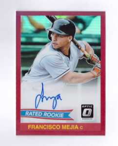 2018 Optic FRANCISCO MEJIA Rated Rookie Auto Pink Prizm Refractor 50/50 1984