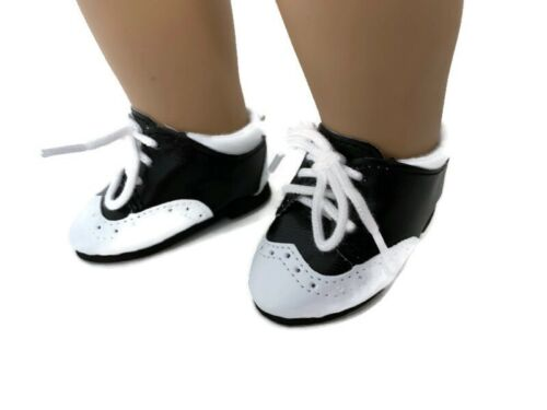 Saddle Shoes-Black and White made for 18 inch American Girl Doll Clothes