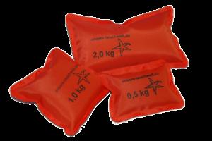 SOFTGewichte 0,5kg - 2,5kg wie Softblei, Tauchblei Gewichte zum Tauchen orange