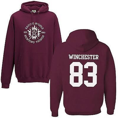Saving People Hunting Things Hoodie Supernatural Sam Dean Winchester Bros Hoody