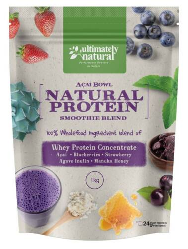 Acai Berry Natural Whey Protein Gluten Free Shake Super Fruit Powder Blend