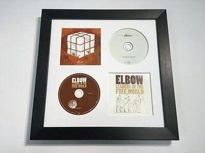 CD Music Album Cover Memoribilia Frame White With 4 Mount Colours To Choose