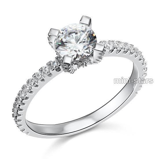 1 Karat Hochwertiger Verlobungsring 925 Silber Zirkonia Ring Fr8026 Neueste Mode