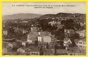 cpa-FRANCE-CANNES-View-from-the-Tour-of-Mont-Chevalier-District-ENGLISH