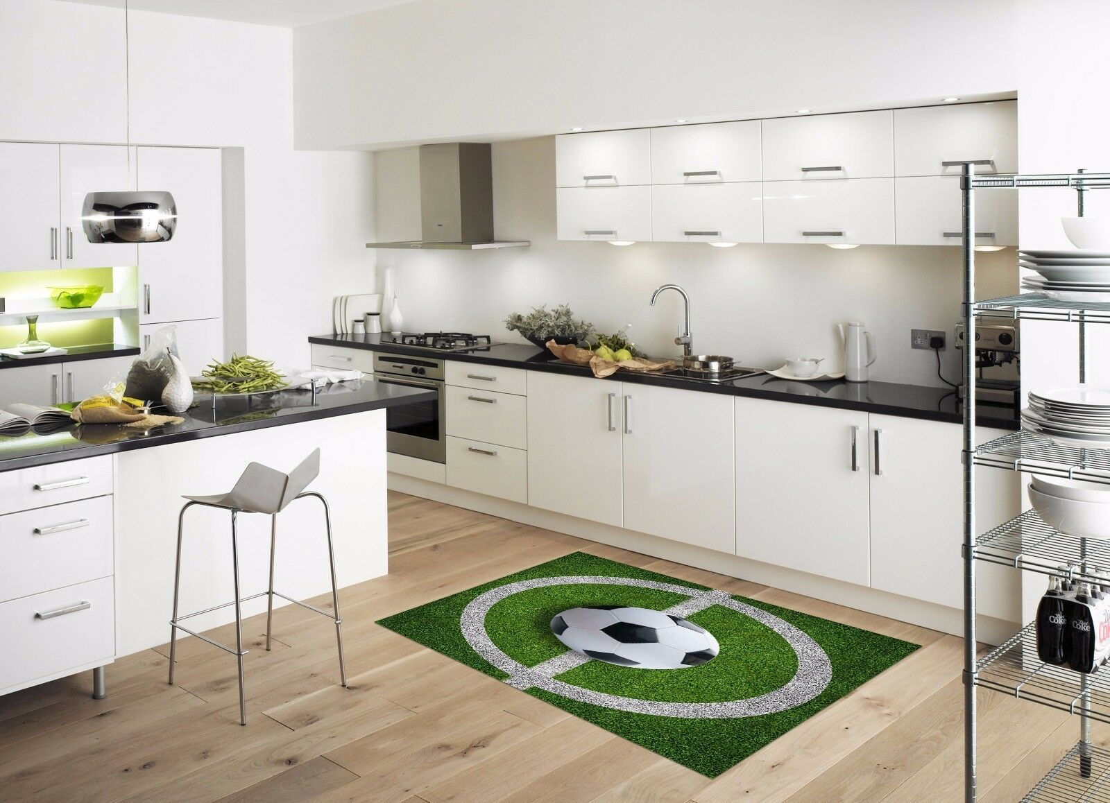 3D Football Field4 Kitchen Mat Floor Murals Wall Print Wall AJ WALLPAPER UK Kyra