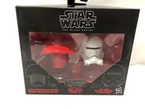 New Star Wars Black Series Titanium Elite Praetorian Guard Flametrooper Helmets