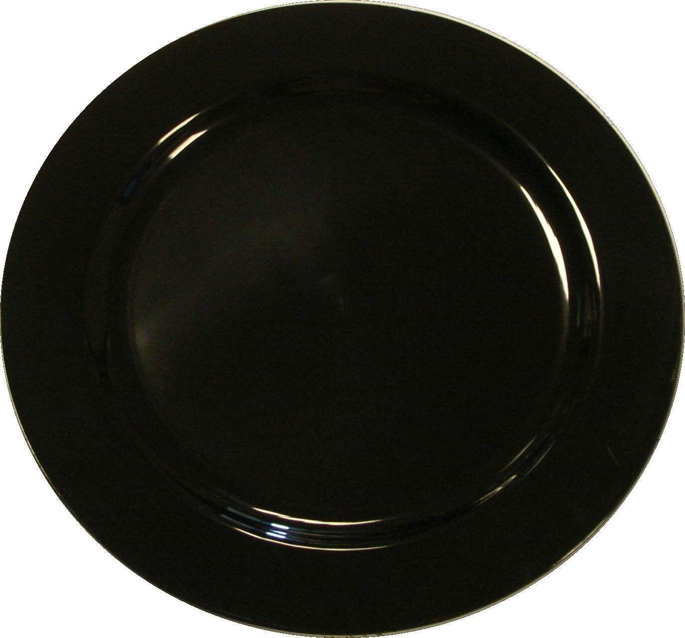 100 X Noir 10  MOZAIK forte jetables en plastique dur assiettes 26 cm