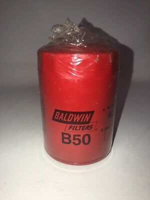 Baldwin Filters B50 Oil Filter, Spin-on, By-pass