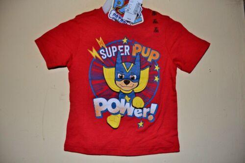 PAW PATROL//SUPER PUP POWER!-BOYS SIZE12//18 MO thru 4T-LICENSE SHORT SLEEVE-NWT