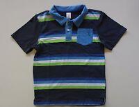 EUC Gymboree Boys Back To School Navy/Blue/White Striped Polo Shirt Size 10
