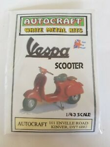1/43 Scale 7mm O Gauge 1960s Vespa Scooter Metal Kit