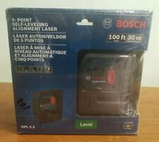 New Bosch Gpl 5 S 5 Point Self Leveling Alignment Laser