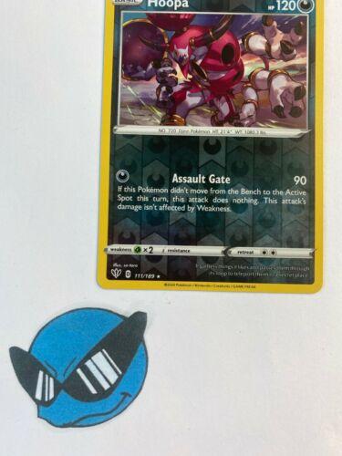 111//189 HoopaRare Holo CardSWSH-03 Pokemon Darkness Ablaze