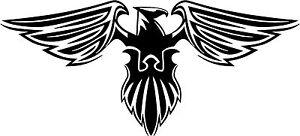Eagle Head Sticker Decal Graphic Vinyl Label Black