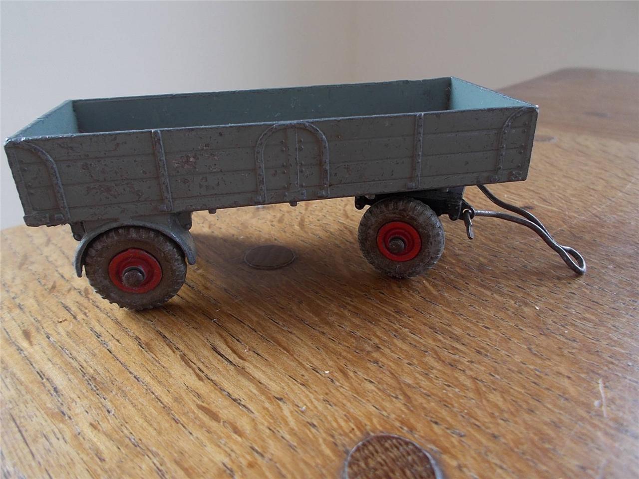 Vintage Dinky Toys SuperToys Grey Farm Trailer Diecast Tinplate Meccano 4.25