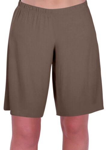 Da Donna Taglie Forti Jersey Rilassato Comfort Elasticizzato Flexi stretch signore pantaloncini