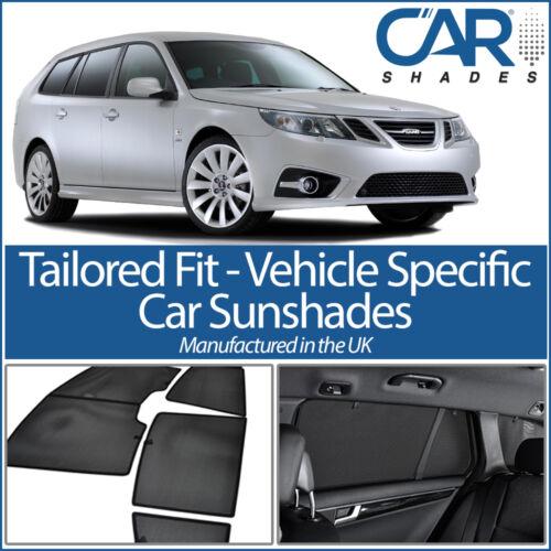 Saab 9-3 Estate 05-11 UV CAR SHADES WINDOW SUN BLINDS PRIVACY GLASS TINT BLACK