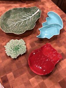 Lot 4 Trivet Decor Service Platters Vintage Frazier Calif 614 Gourmet Exp Owl