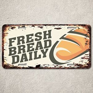 Lp0202 Fresh Bread Daily Sign Rustic Auto License Plate. Personnel Signs Of Stroke. Pork Logo. Rock Lettering. East End Murals. Hockey Decals. Outfit Signs Of Stroke. Body Shapes Signs. Kindergarten School Logo