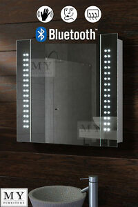Image Is Loading 60 LED BATHROOM MIRROR CABINET BLUETOOTH SHAVER DEMISTER