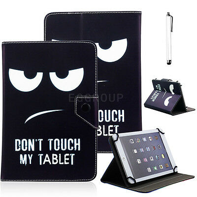 """Flower Universal PU Leather Stand Case Cover For Verizon Ellipsis 7"""" RCA Tablet"""