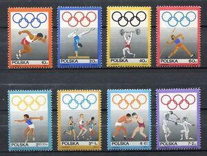 35785) Poland 1969 MNH Polish Olympic Committee 8v Scott #