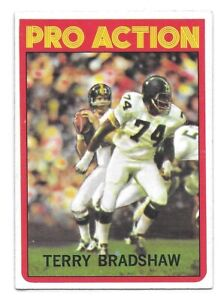 Terry-Bradshaw-Football-Card-1972-Topps-120-In-Action-Pittsburgh-Steelers-HOFer